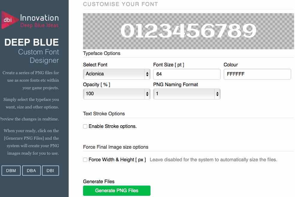 Custom Score Font Tool
